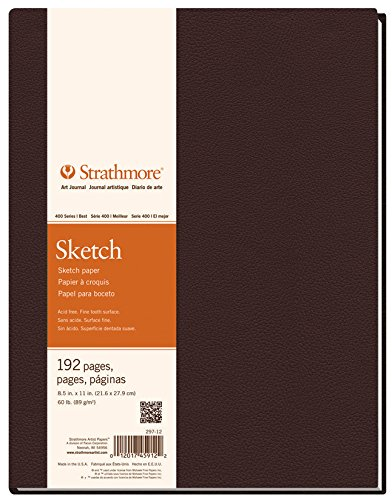 Strathmore STR-297-9 192 Sheet Hardbound Sketchbook, 5.5 by 8.5