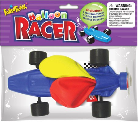 Funsational Balloon Air Racer, Assorted Colors