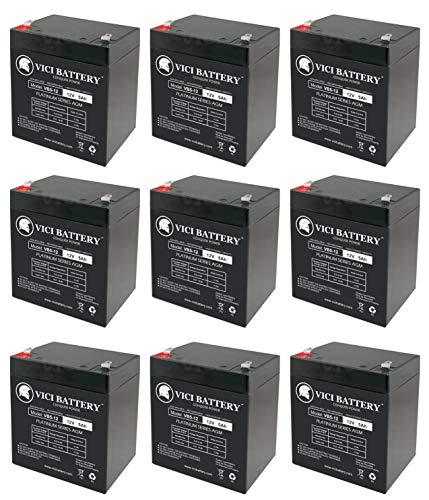 Control Elk M1ez8 - 12V 5AH SLA Battery Replacement for ELK M1EZ8 Control Kit - 9 Pack - VICI Battery Brand Product