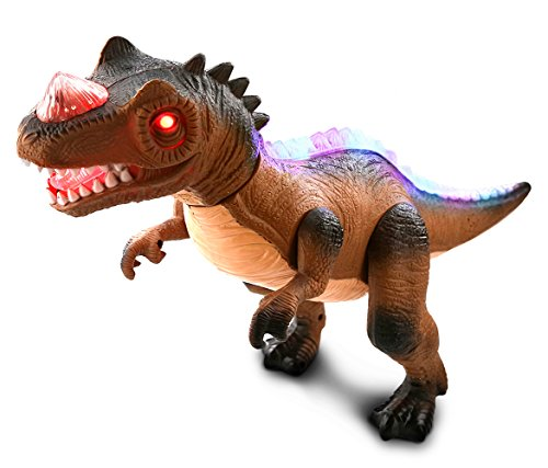 Mozlly Light Up Dancing Walking Roaring Dinosaur RC T-Rex with Multi-Functional - Include Dino Remote Control - Interactive Dance Walk Roar Figure Realistic Simulation Electronic Toy Robot with Radio ()