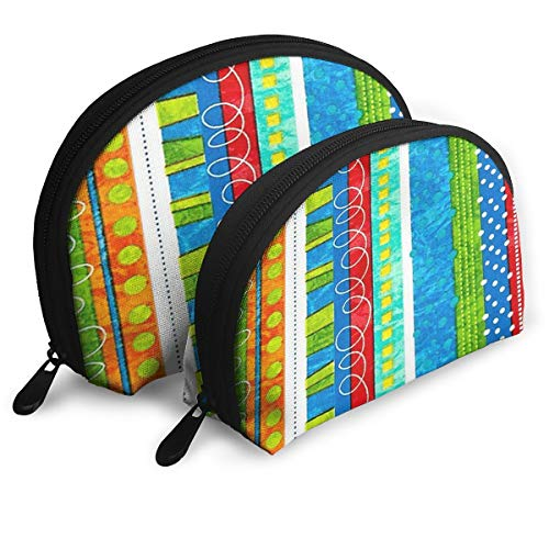 (GUSJAH Bug's Life Funky Stripe Handy Cosmetic Pouch Clutch Makeup Bag - Small+Large)