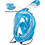 Snorkeling Mask, ZSPORT Easybreath Full Face Diving Mask GoPro Compatible,See More With Larger Viewing Area Than Traditional Masks with Anti-Fog and Anti-Leak Technology