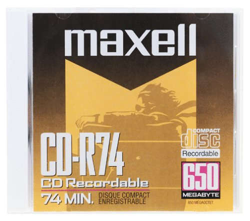 Maxell CD-R 623310 650 MB 74 Minute (1-Pack) from Maxell