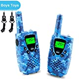 Walkies Talkies for Kids, 22 Channels FRS/GMRS UHF Two Way Radios 4 Miles Handheld Mini Kids Walkie Talkies for Boys Girls Best Gifts Kids Toys Built in Flashlight, Camo Blue