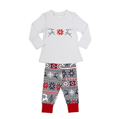 XFentech Snowflake Womens Men Children Christmas Winter PJ Pyjama Night Wear  Sets 5ed6ccfc2b