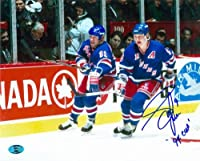 Autograph Warehouse 86449 Adam Graves Autographed 8 x 10 Photo New York Rangers Inscribed 94 Cup Image No .12