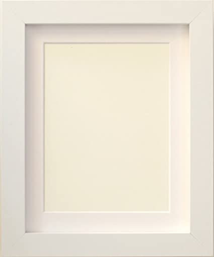 TAILORED FRAMES-WHITE SQUARE DESIGN PICTURE FRAMES size 50x40cm for 40x30cm  with White Mount, to Hang