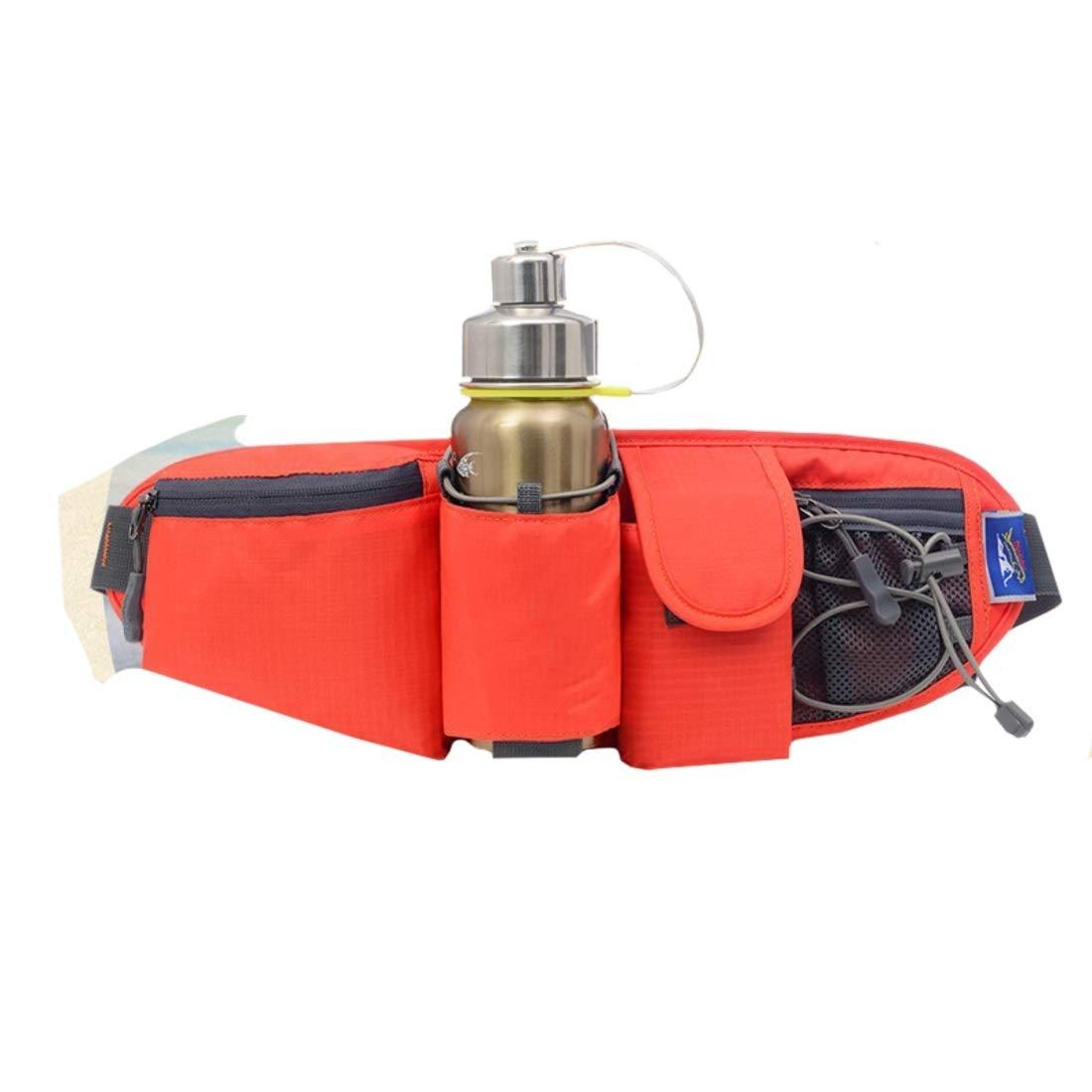 Xasclnis Unisexe Running ceinture avec porte-bouteille deau imperm/éable respirant taille sac s/écurit/é taille pochette sac banane pour la marche vacances randonn/ée p/édestre v/élo en cours dex/écution e