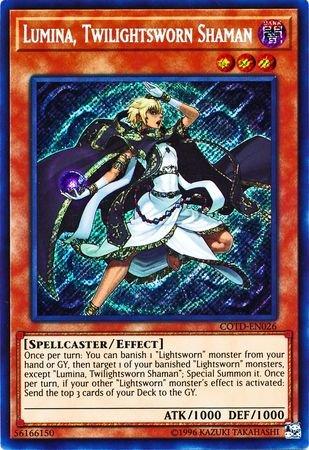 Lumina, Twilightsworn Shaman - COTD-EN026 - Secret Rare - Unlimited Edition - Code of the Duelist (Unlimited Edition)