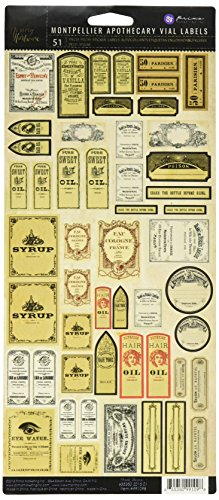 Prima Marketing 655350991098 Montpellier Apothecary Vial Labels