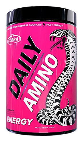 Cobra Labs Daily Amino 30 Serve, Mixed Berry Blast, 255 Gram
