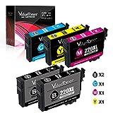 Valuetoner Remanufactured Ink Cartridge Replacement 5 Pack for Epson 220 220XL Ink for Epson WorkForce WF-2760,WF-2750,WF-2630,WF-2650,WF-2660,XP-320,XP-420 Printer (2 Black 1 Cyan 1 Magenta 1 Yellow)