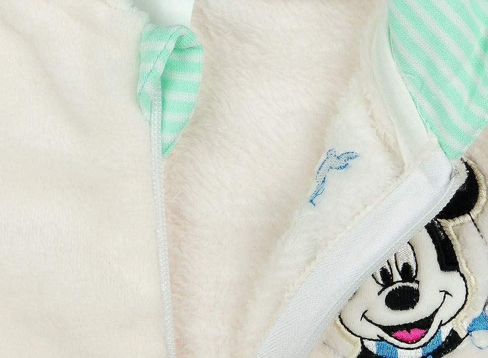 bestricktem Muster f/ür Herbst und Winter 56 62 68 74 80 Strampler-Overall Disney Mickey Mouse Kuschel-Overall Fleece-Overall f/ür Baby Junge Overall mit Kapuze WARM Gr