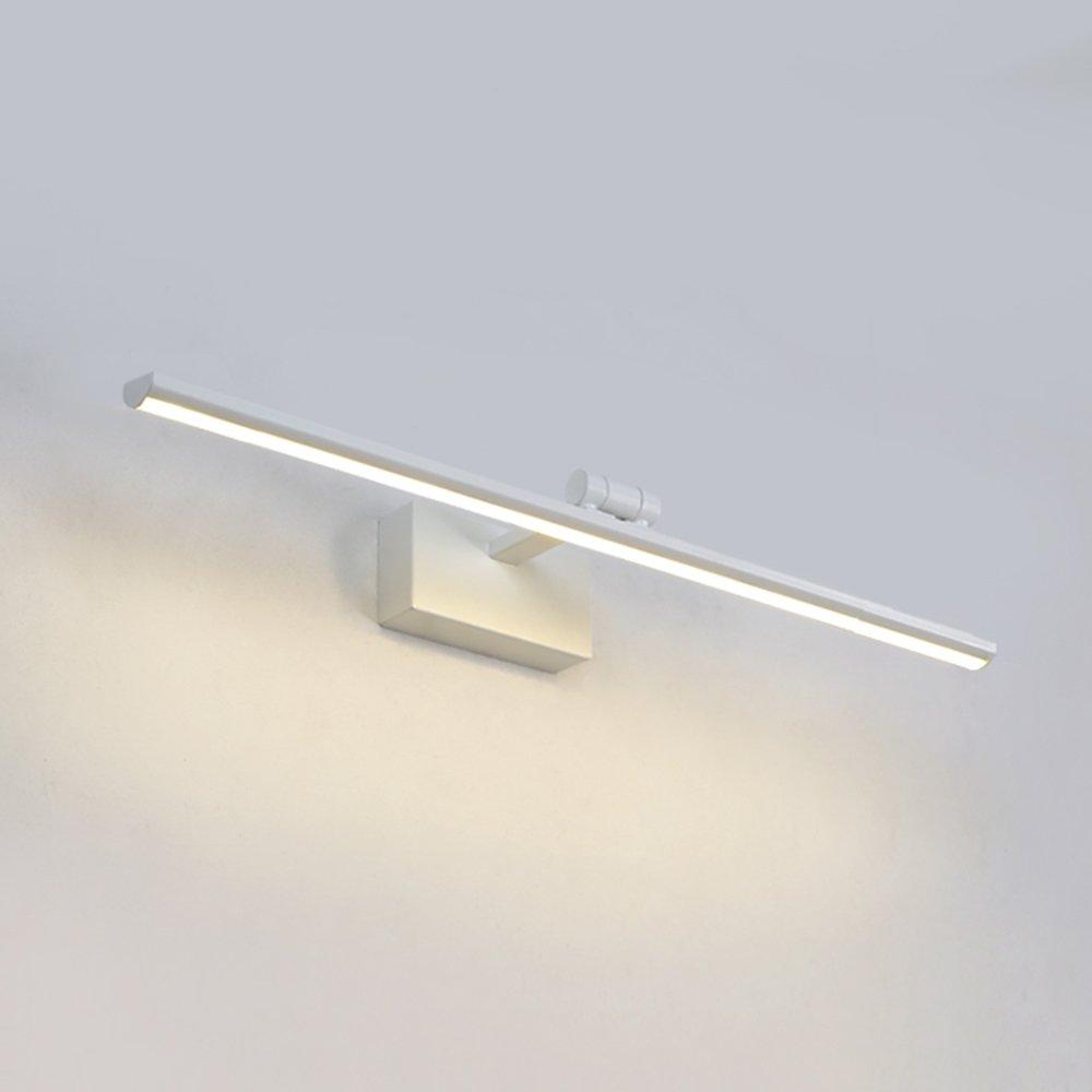 LJHA jingqiandeng ミラーヘッドライトは、シンプルなモダンなバスルームのバスルームのメイクアップランプミラーライト防水防曇壁ランプの北欧鏡キャビネットライトを導いた (色 : Brown, サイズ さいず : 60 cm 60 cm) B07M5F49K4 40CM 白 白 40CM