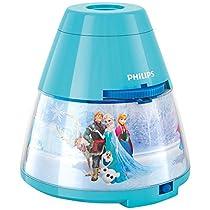 Philips e Disney Frozen Lampada da Tavolo Proiettore LED, Azzurro [Classe di efficienza energetica A]