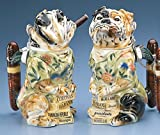 Bulldog Stein w/ Cigar Man's Best Friend Figurine Collection German Beer Stein Limited Edition