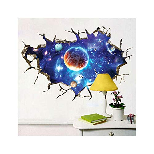Elevin(TM) 3D Star Floor Stickers Wall Decals Removable Art Wall Paper Mural Home Decor (Q)