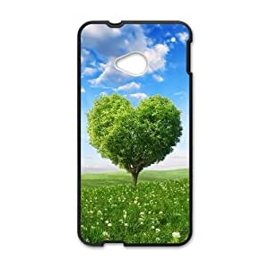 Love Tree HTC One M7 Cell Phone Case Black JD7674615