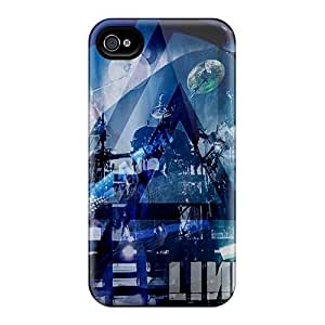 Apple Iphone 4/4s Bab8983Kaaj Support Personal Customs HD Linkin Park Pictures Great Cell-phone Hard Cover -LauraFuchs