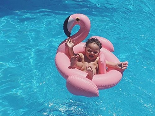 Goodid Flodador Flamenco con asiento Flotador Colchoneta para niños bebé-Rosa: Amazon.es: Juguetes y juegos