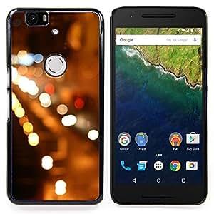 """Pulsar Snap-on Series Teléfono Carcasa Funda Case Caso para Huawei Google Nexus 6P , Night City Lights Coches Calles"""""""