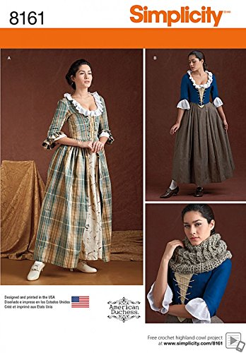 Simplicity Ladies Sewing Pattern 8161 18th Century Costumes