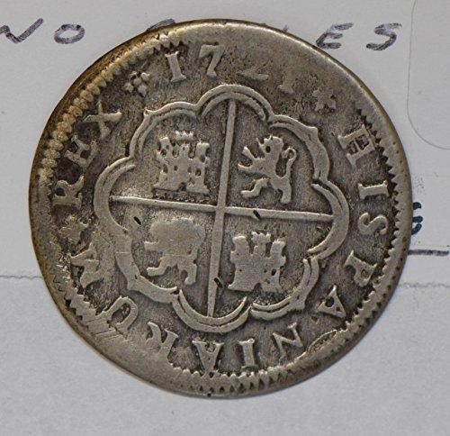 1721 ES M0240 Spain 2 Reales seville mint silver DE PO-01