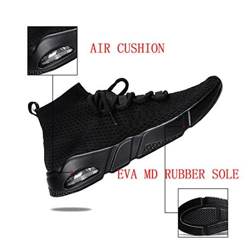 KRIMUS Adulto Deporte 2 Zapatillas Negro de Unisex rvqazHrw