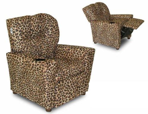 Cup Holder Cheetah Kids Recliner