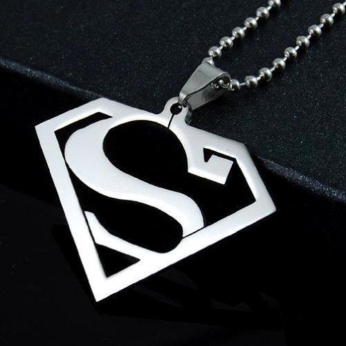 Amazon Stainless Steel Superhero Superman Pendant Necklace