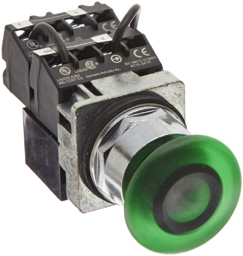 120v Actuator (Siemens 52PP3MSU Heavy Duty Mushroom Push Pull Button Unit, Water and Oil Tight, 3 Positions, 1-3/4