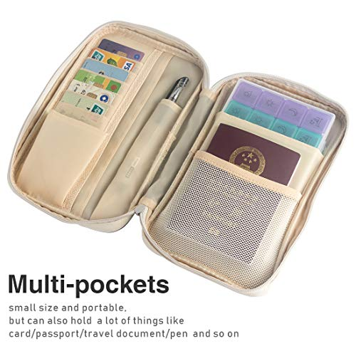 Travel Premium Pill Organizer Case Box Passport Wallet,Multi-Function Daily Pill Box for Vitamin/Fish Oil/Supplements by Louty (Image #1)