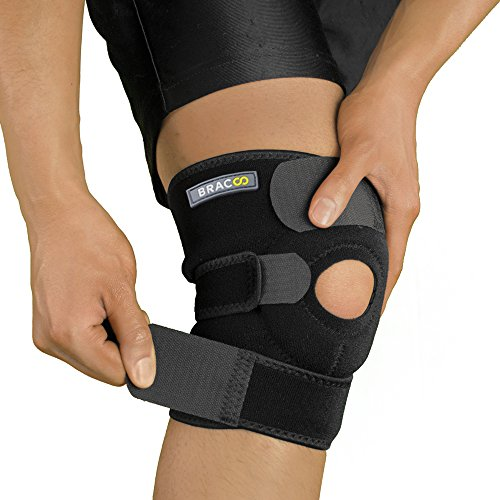 Bracoo Knee Support, Open-Patella Stabilizer with Adjustable Strapping & Extra-Thick Breathable Neoprene Sleeve Neoprene Patella Knee Sleeves
