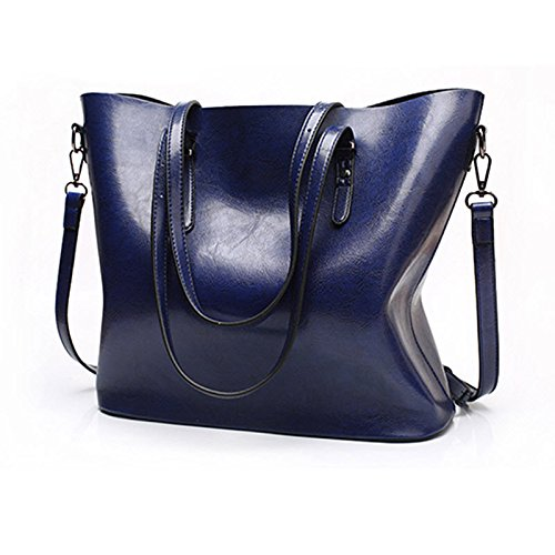 08bfe3f0812d Amazon.com  2018 New Fashion Women Pu Leather Handbags Lady Large Tote Bag  Female Shoulder Bags (Blue Color)  Everything Else
