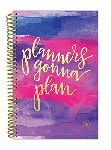 "bloom daily planners 2018 Calendar Year Daily Planner - Passion/Goal Organizer - Monthly Weekly Agenda Datebook Diary - January 2018 - December 2018 - 6"" x 8.25"" - Planners Gonna Plan"