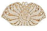 Luxury Crystal Clutch for Women 3D Flower Rhinestone Evening Bag