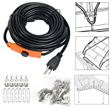30 ft heat tape - YaeTek Heat Roof Gutter De-icing Ice Snow Melter Cable Tape Kit, with Thermostat: On:6±3℃ Off:13±3℃ (30FT)