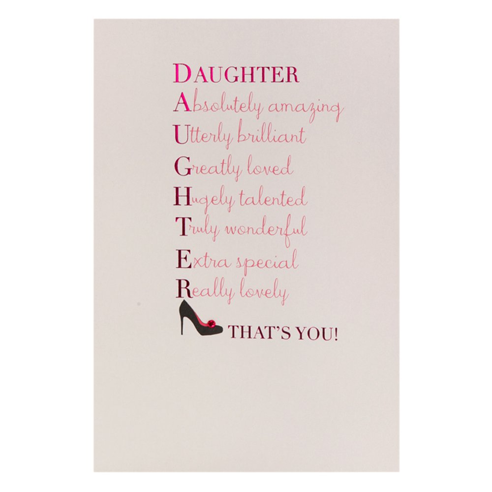 Hallmark Birthday Card for Daughter Thanks For Being Fantastic – Birthday Daughter Card
