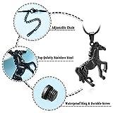 mingkejw Cremation Jewelry Horse Urn Pendant