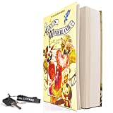 real paper book locking book safe with key lock,book pages that can be opened -alice in
