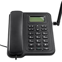 GSM Wireless Telephone Desktop Fixed Phone for Home and Office Rechargable Battery SMS Support 2 SIM Card Slots Wireless Phones