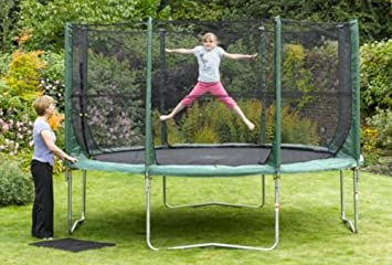 PLUM 12FT GARDEN TRAMPOLINE ENCLOSURE ONLY. TRAMP KLAMP