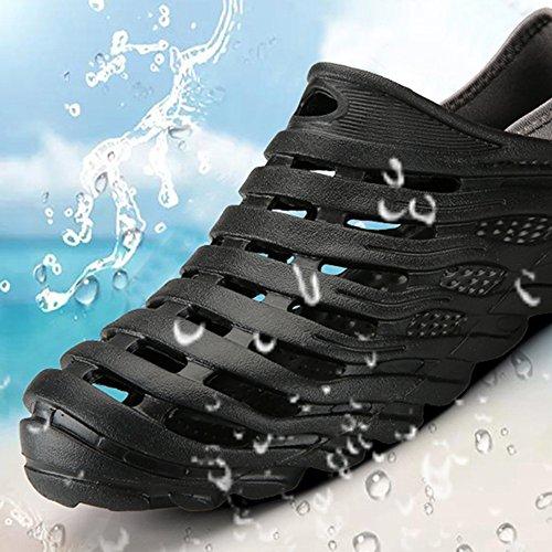 MAZHONG Zapatillas Zapatos de verano para hombres Zapatos Zapatillas Sandalias Pareja Sandalias antideslizantes ocasionales para jóvenes ( Color : Gris , Tamaño : EU39/UK6/CN39 ) Negro