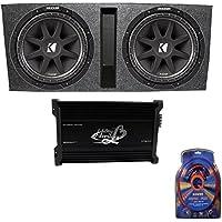 Kicker 15 600W Dual Loaded Subwoofer Box w/ 2000W 4-Ch. Amplifier & Wiring Kit
