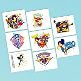 (US)  DC Superhero Girls Tattoos (16 Pack) Birthday Party Supplies