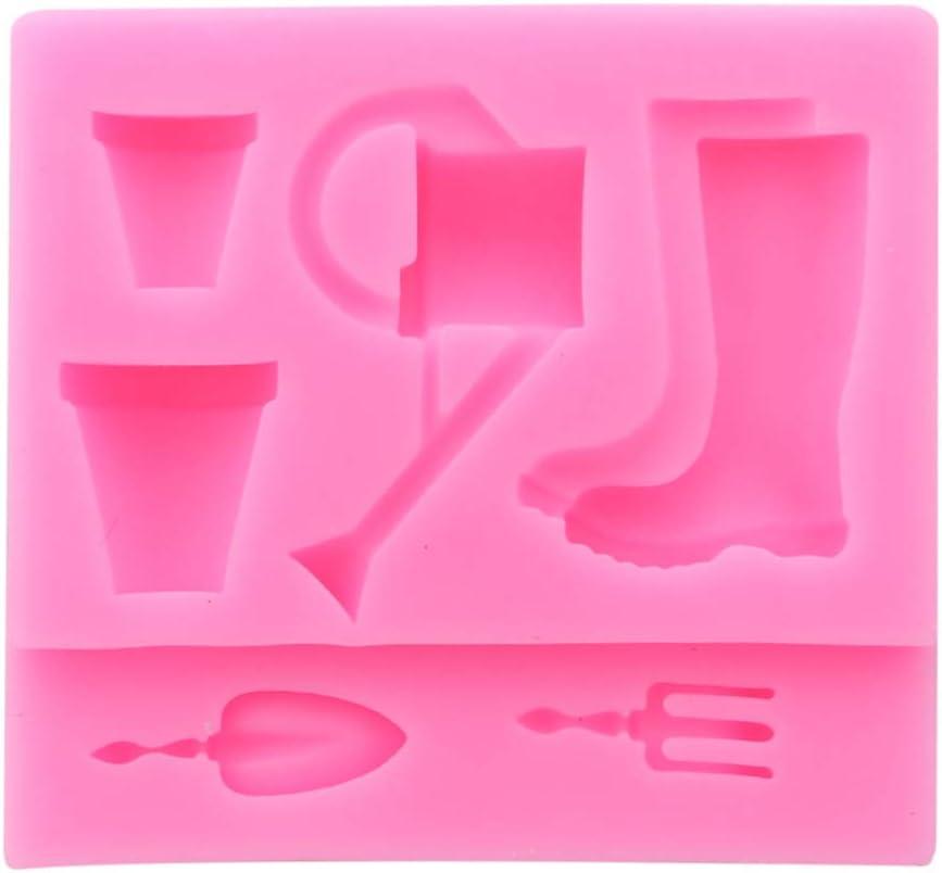 Grau Weryffe Wasserkocher Silikonform Blument/öpfe Gartenger/äte Kuchen Fondant Praline Gelee Kuchen Cookies Form Backen Dekorieren Tools