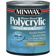 Minwax 64444 Semi Gloss Polycrylic Protective Finishes, 1 Quart by Minwax