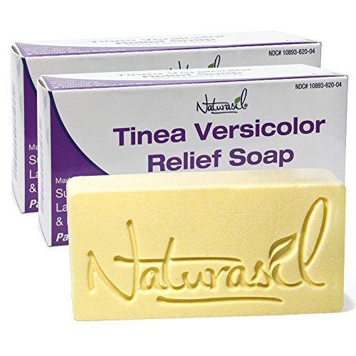 Tinea Versicolor Medicated Soap by Naturasil - 4 oz, 2 bars