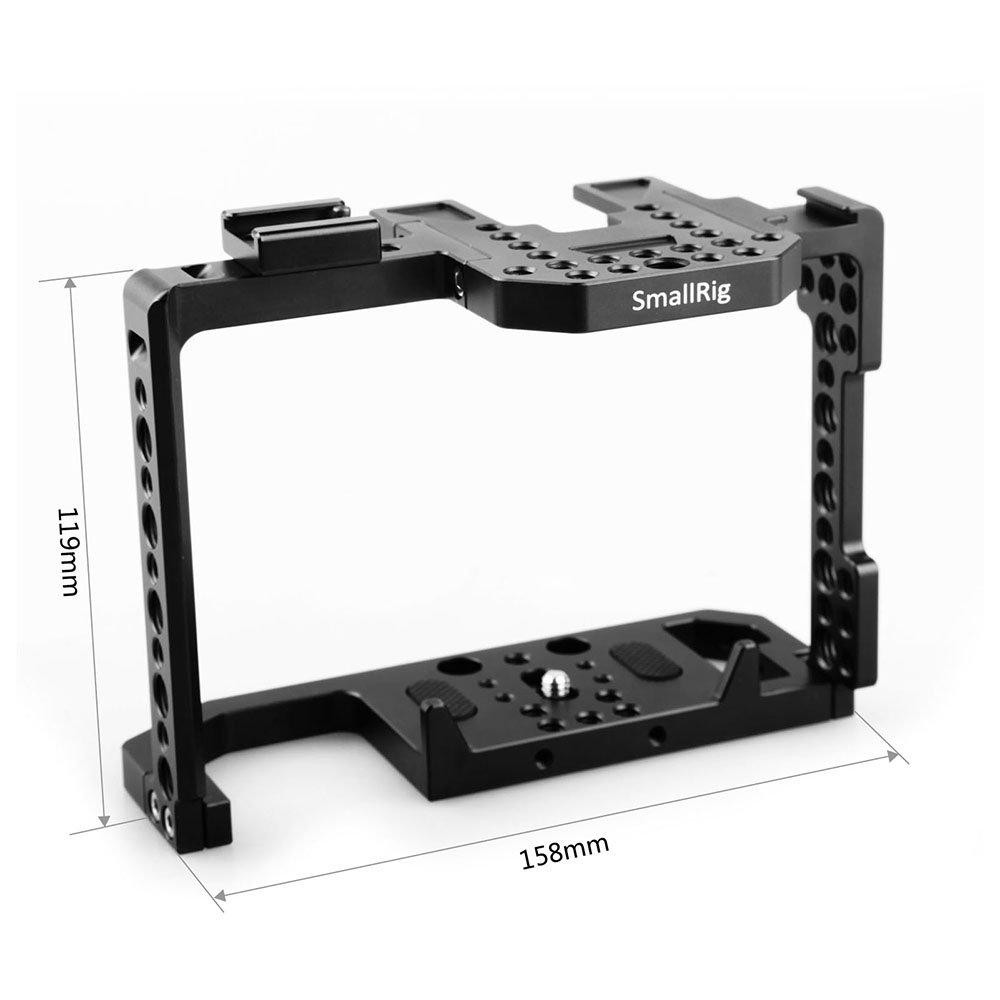 SMALLRIG Camera Cage for Canon EOS 80D with NATO Rail, Cold Shoe - 1789 by SMALLRIG (Image #2)