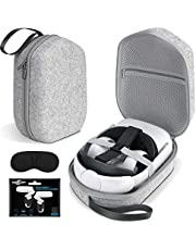 Oculus Quest 2 Case SARLAR Hard Carrying Case for Oculus Quest 2/Elite Version VR Gaming Headset and Touch Controllers Accessories, Suitable for Travel and Home Storage.